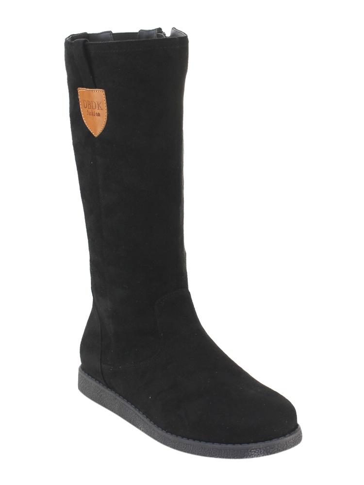 DBDK AE23 Women's Elastic Inside Zipper Low Platform Flat Heel Winter Boots by Winter Boots