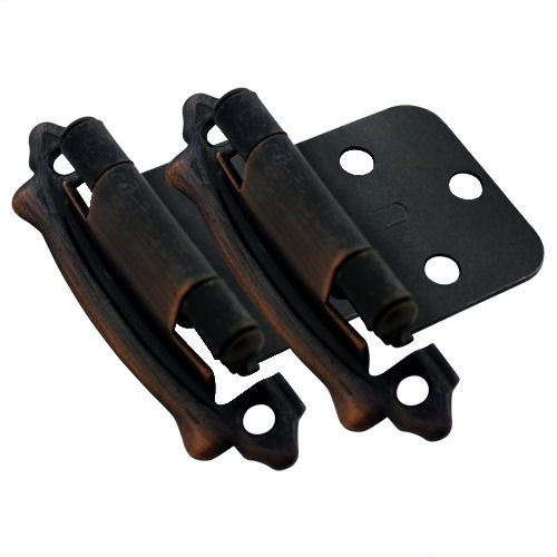Cosmas 17329-ORB Oil Rubbed Bronze Cabinet Hinge Variable Overlay (Pair) [17329-ORB]
