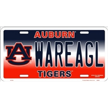 NCAA University of Auburn WAREAGL Tigers Car License Plate Novelty Sign, Made of high quality, rust resistant aluminum By Smart - Auburn Tigers Car Magnet