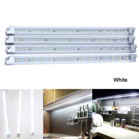 Zerone 4pcs Cabinet LEDs Lights Home Kitchen Led Under Cabinet Counter Shelf Strip Lights Kit Light Lamp Bulbs Energy - Undershelf Lighting