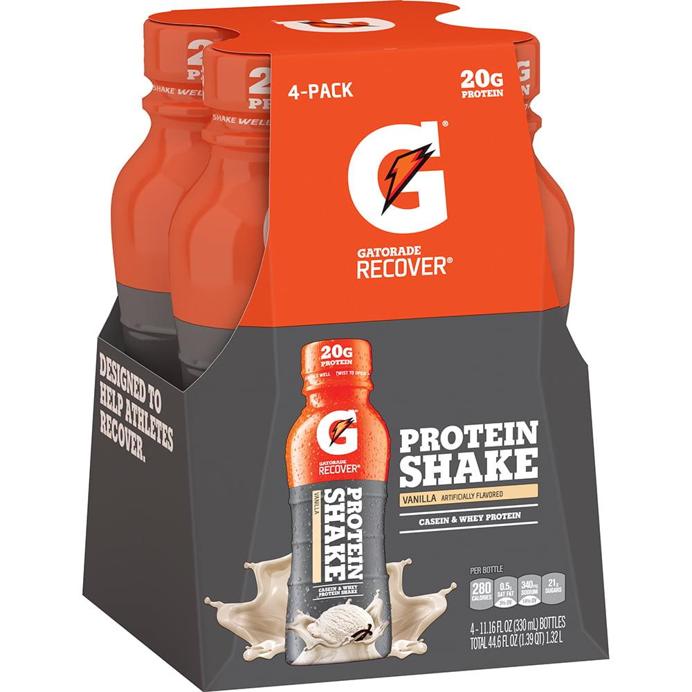 Gatorade Recover Protein Shake Vanilla 11.16 Fluid Ounce Plastic Bottle