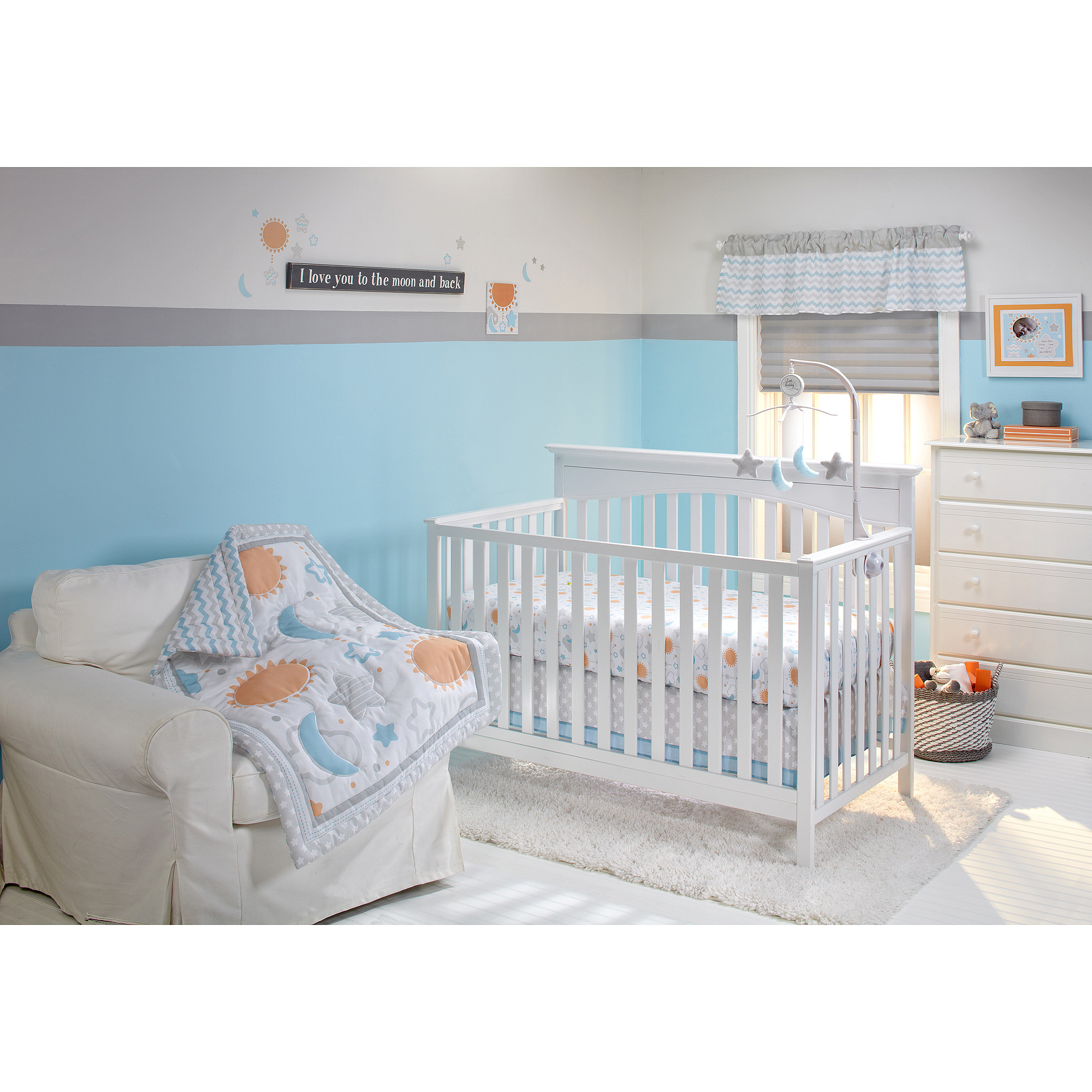 Little Bedding by NoJo Celestial Baby 10-Piece Crib Bedding Set
