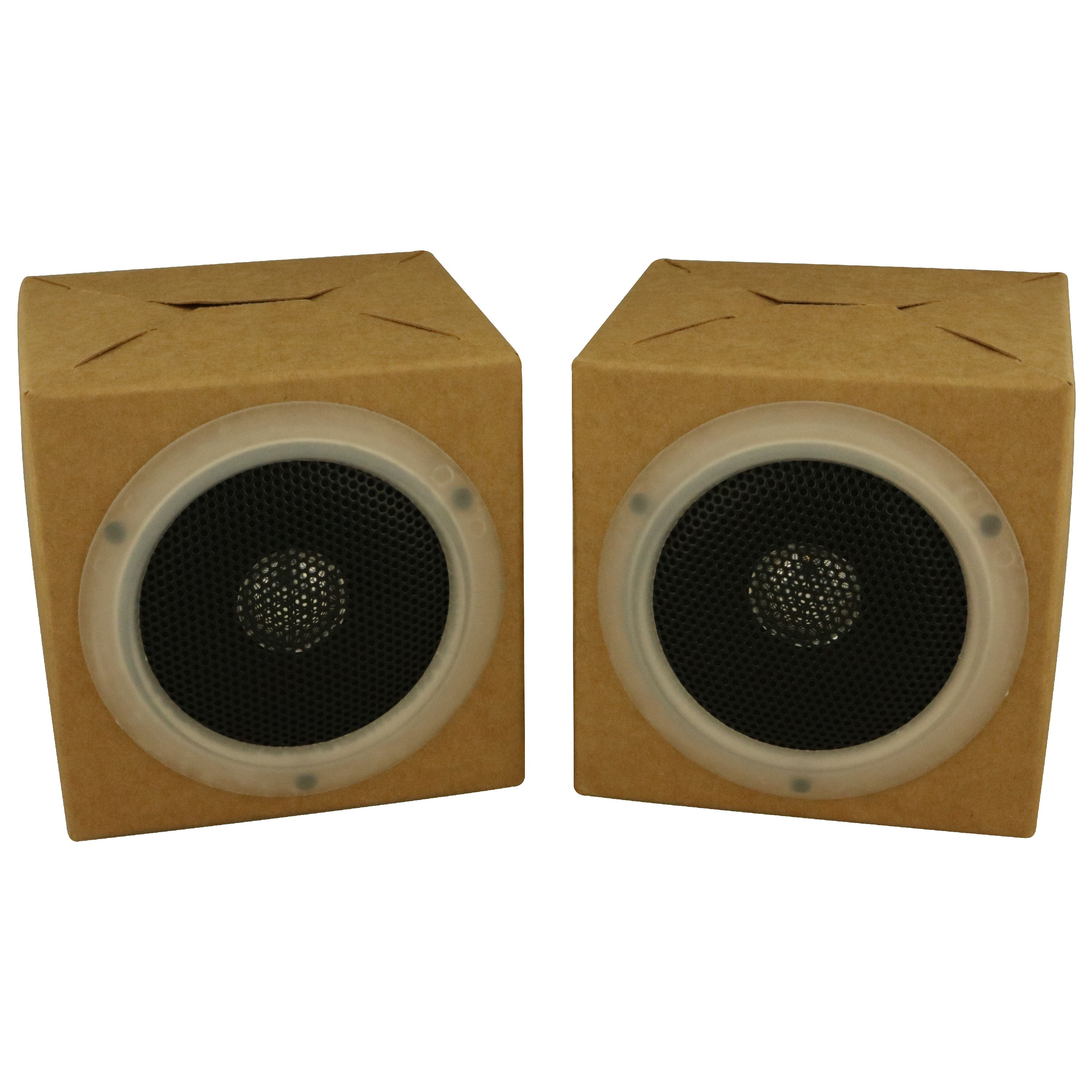OrigAudio Fold and Play Recycled Cardboard Speakers, Pack of 2