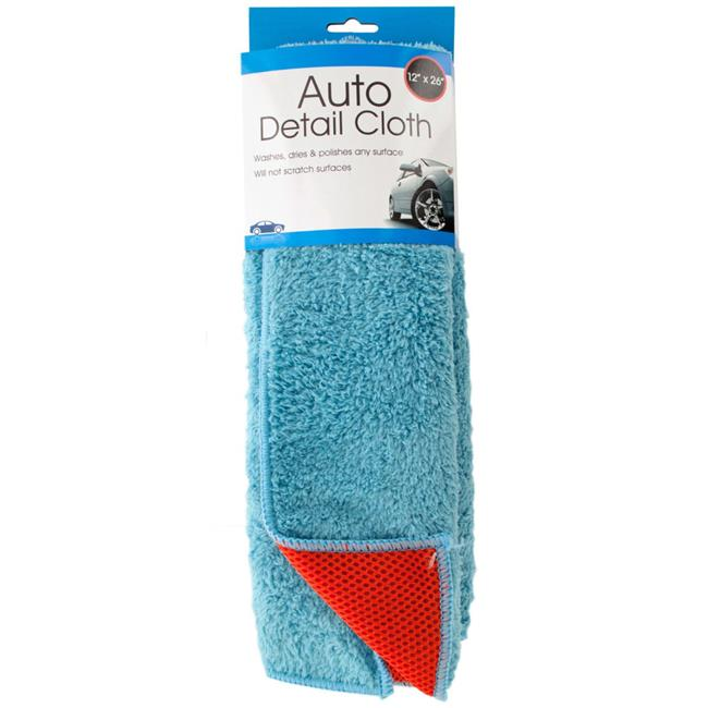 DDI 2287486 2 in 1 Absorbent Microfiber Auto Detail Cloth Case of 6