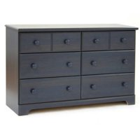 South Shore Summer Breeze 6-Drawer Double Dresser in Blueberry