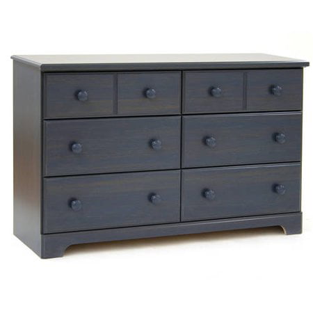 South Shore Summer Breeze 6-Drawer Double Dresser, Blueberry