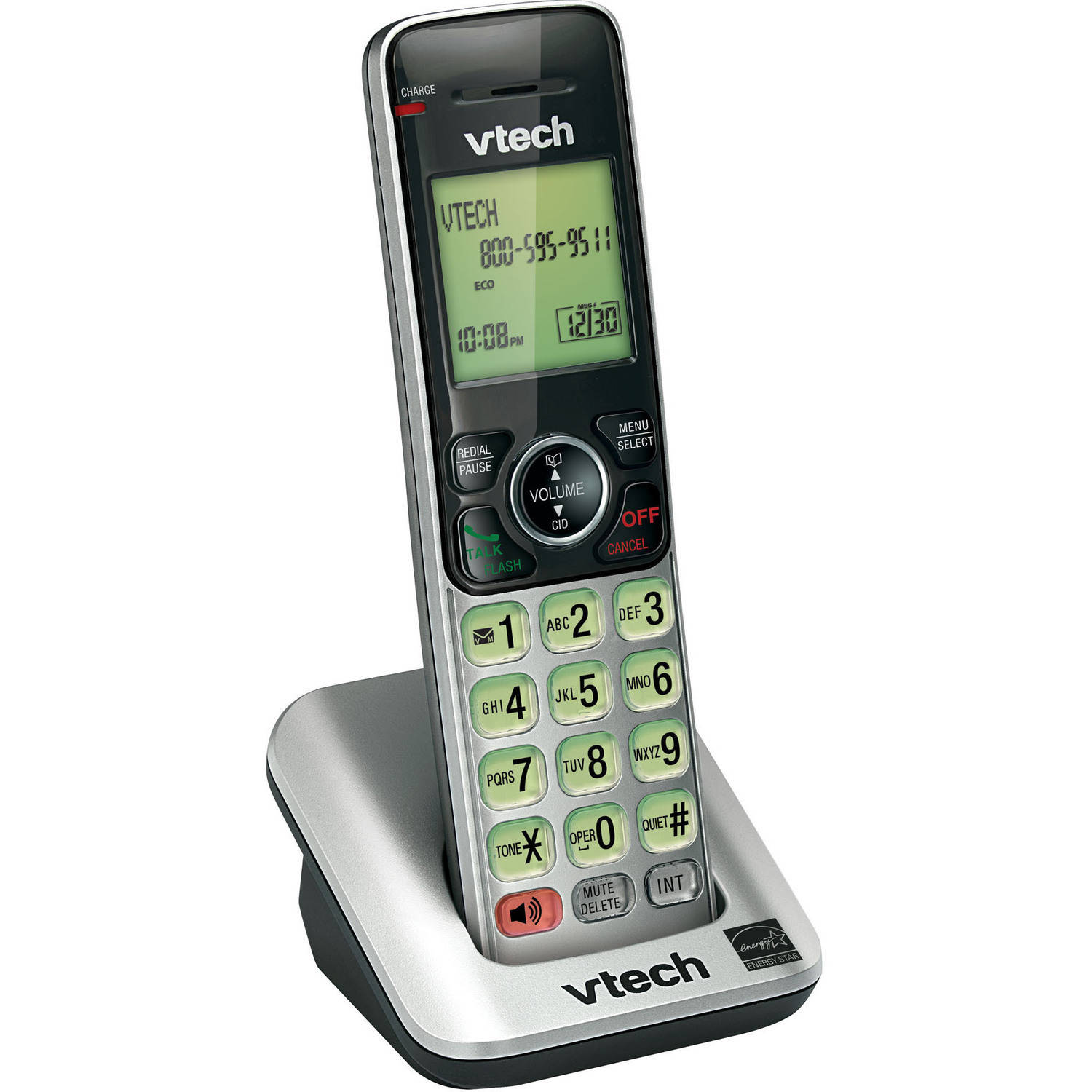 VTech CS6609 DECT 6.0 Accessory Handset for VTech CS6619, CS6629, CS6648 or CS6649, Silver/Black