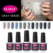 CLAVUZ Gray UV Gel Nail Polish 12pcs Kit Soak Off Lucky Lacquer Nail - Best Reviews Guide