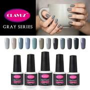 CLAVUZ Gray UV Gel Nail Polish 12pcs Kit Soak Off Lucky Lacquer Nail Art Vernis Semi Permanent Manicure New Starter Gift Set