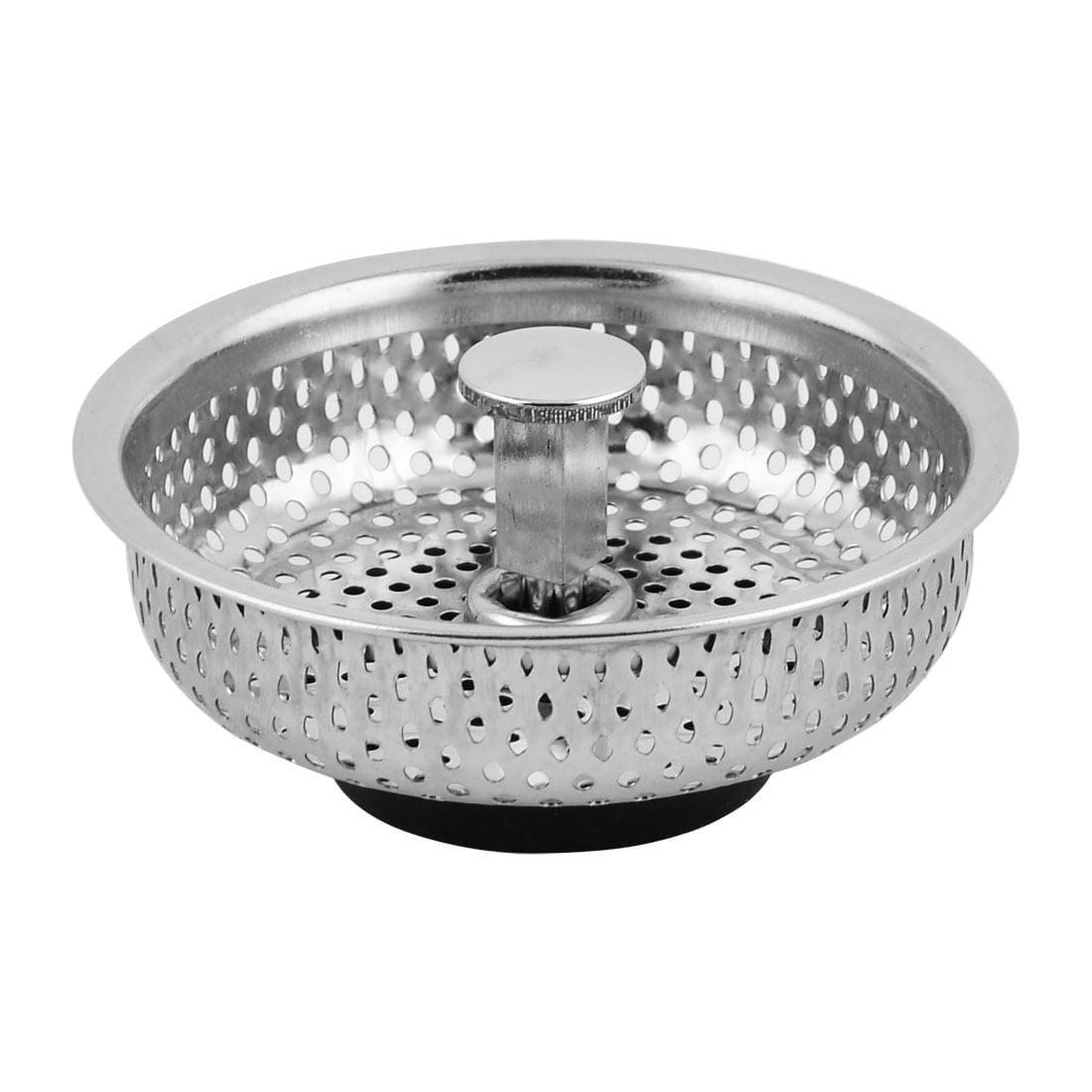 Washroom Kitchen Stainless Steel Sink Residue Scraps Filter Strainer Stopper by Unique-Bargains
