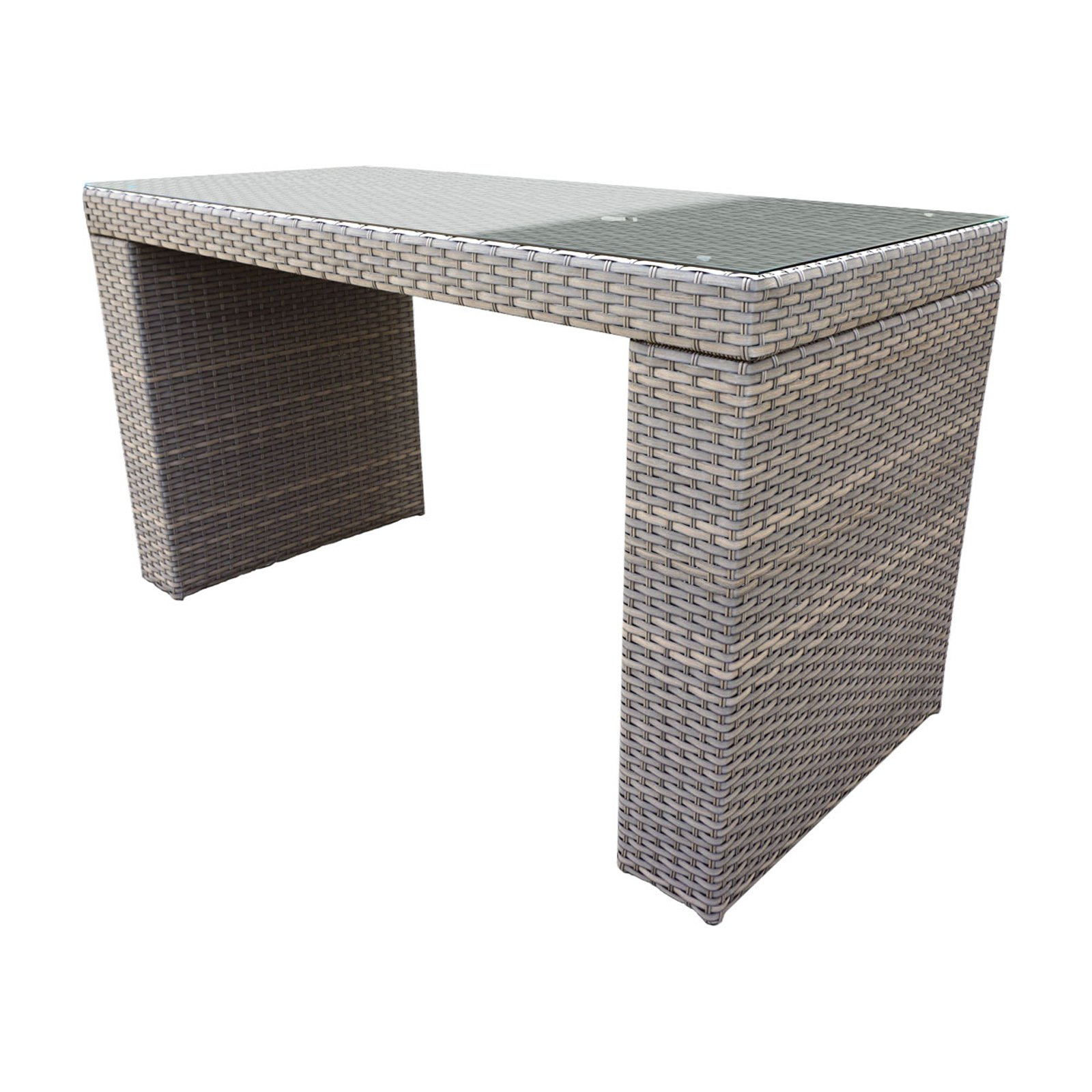 TK Classics Florence Wicker Bar Height Patio Table