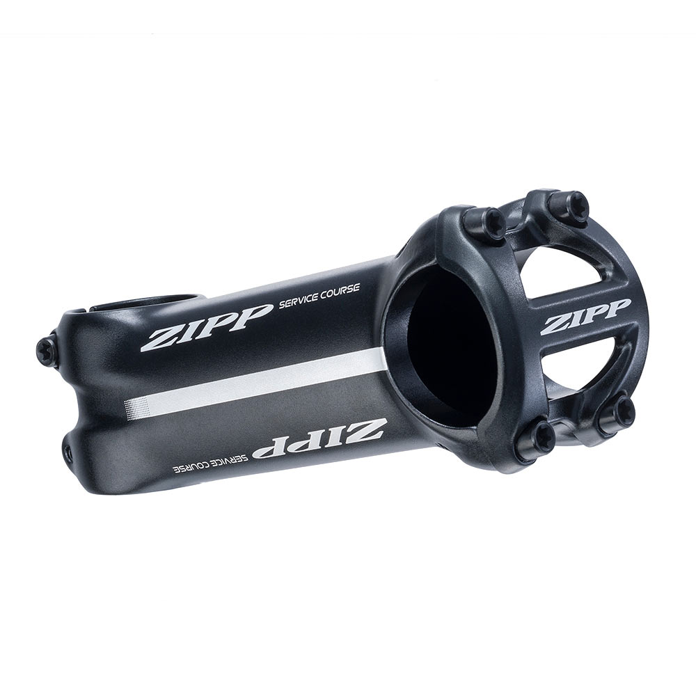 +//- 25 degree Zipp Service Course Road Stem: 90mm 31.8mm Bead Blast Black
