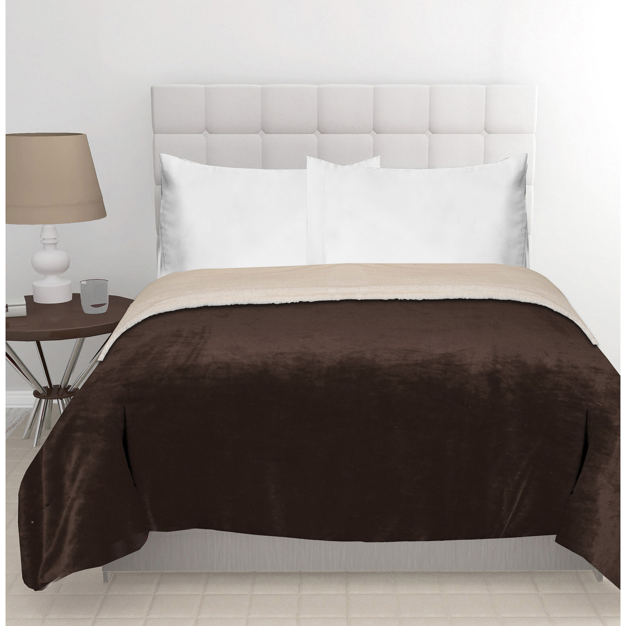 East End Living Mink Reverse To Sherpa Bedding Comforter
