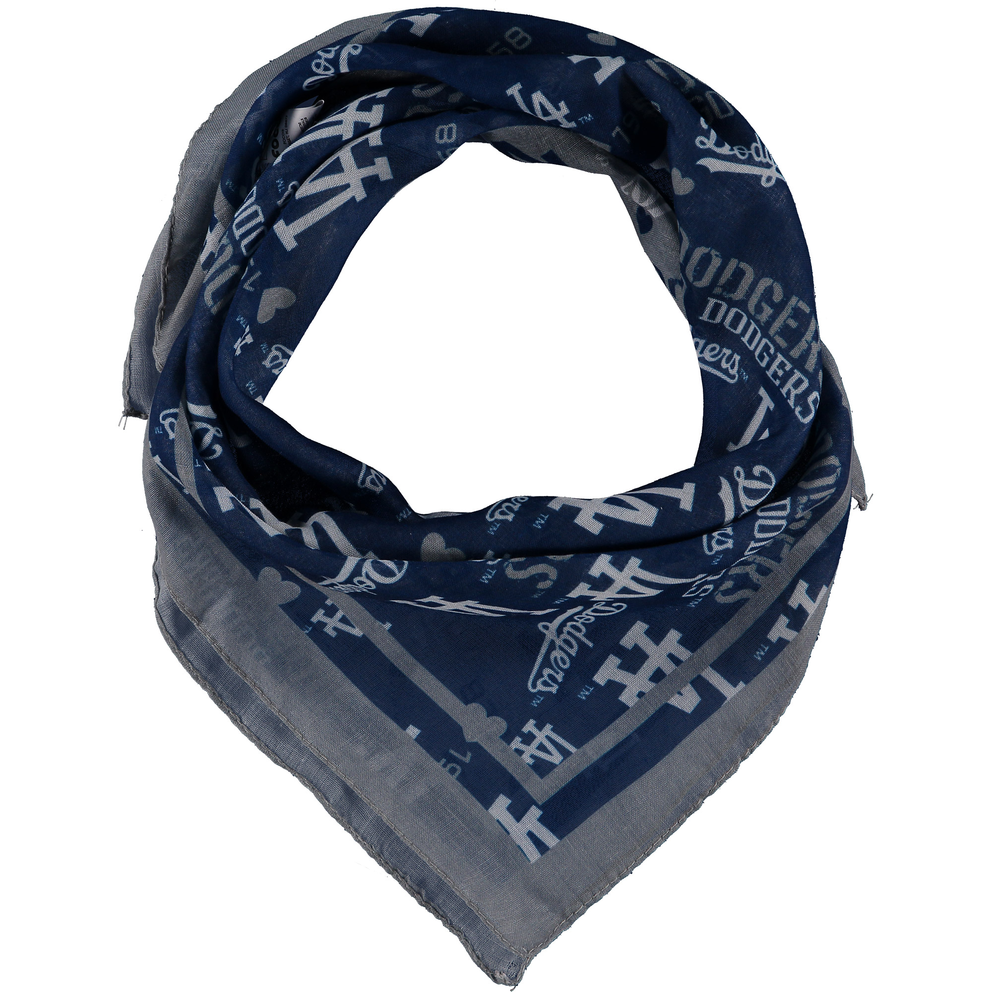 Los Angeles Dodgers Women's Lightweight Repeat Square Scarf - No Size