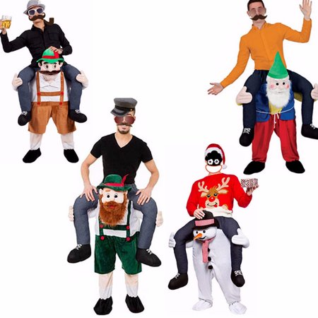 Carry Me Piggy Back Ride On Mascot Dress Party Costume Christmas Snowman Dwarf (7 Dwarfs Costumes)