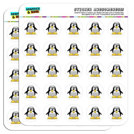 "Penguin Snow Bird 1"" Scrapbooking Crafting Stickers"