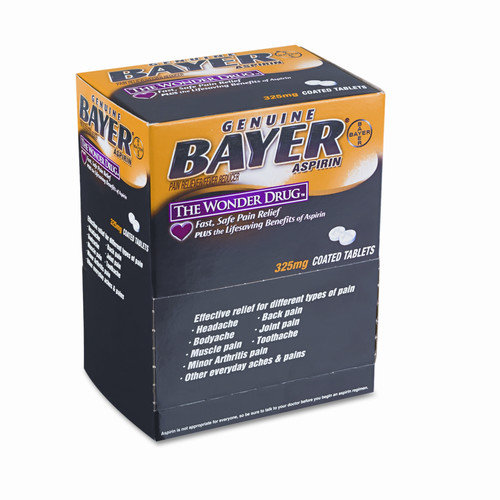 ACME UNITED CORPORATION Bayer Aspirin Pain Reliever, 50 Two-Packs per Box