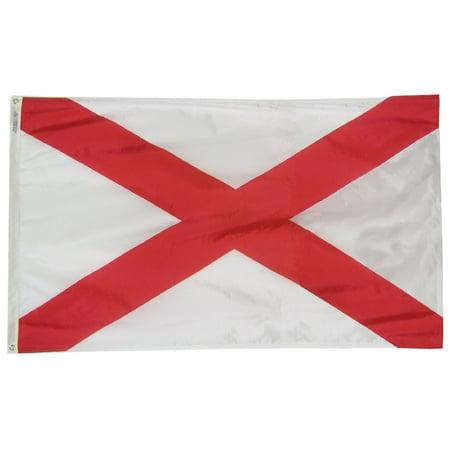Alabama State Flag 4x6 ft. Nylon Official State Design -