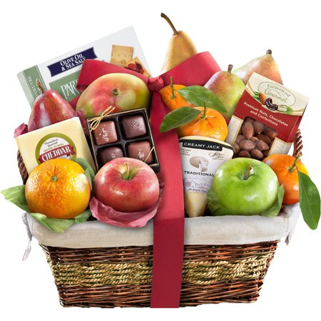 Golden State Fruit Classic Deluxe Fruit Gift Basket, 16 pc