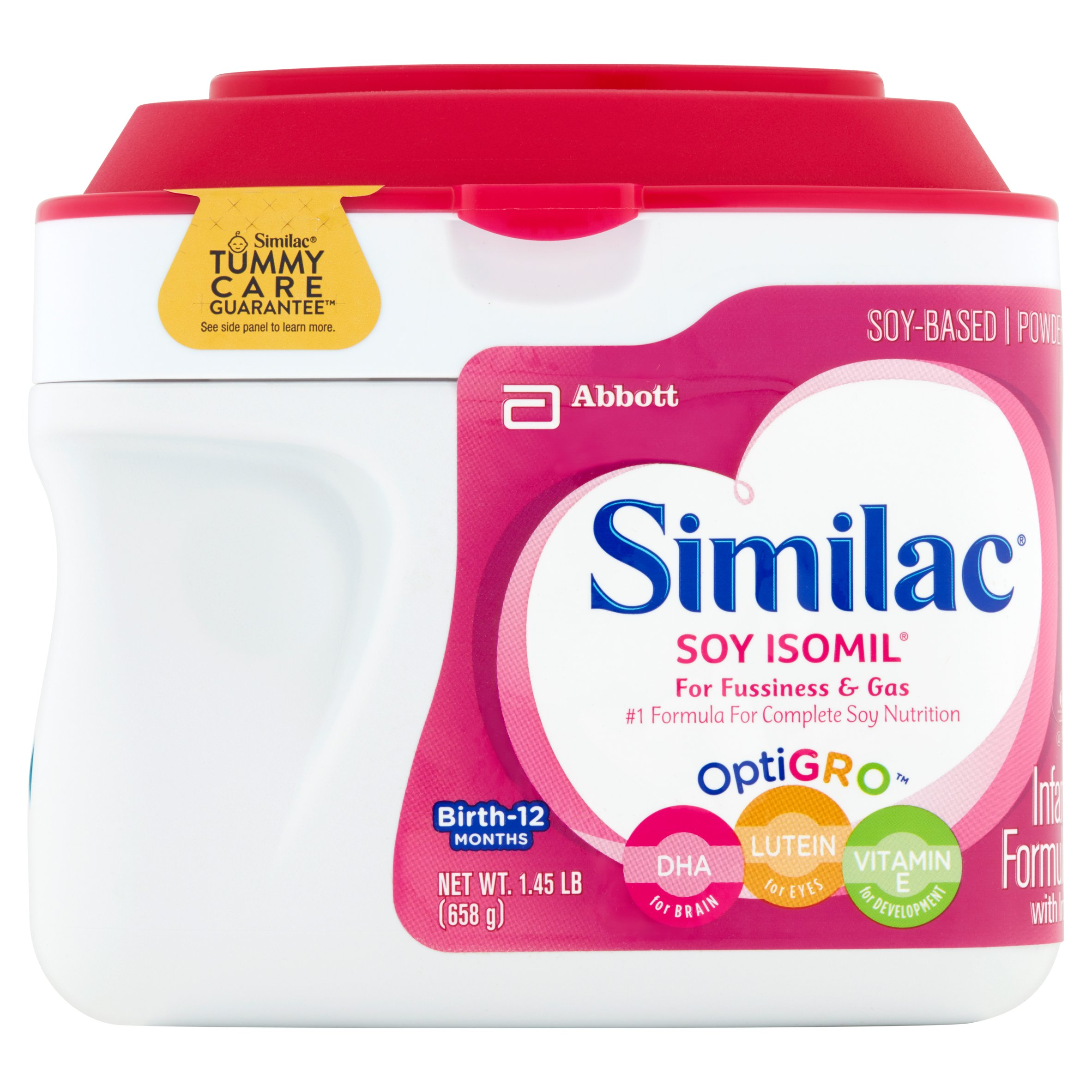 Similac Soy Isomil Soy-Based Powder Infant Formula with Iron Birth-12 Months 6 x 1.45lb (8.7lb) by Similac