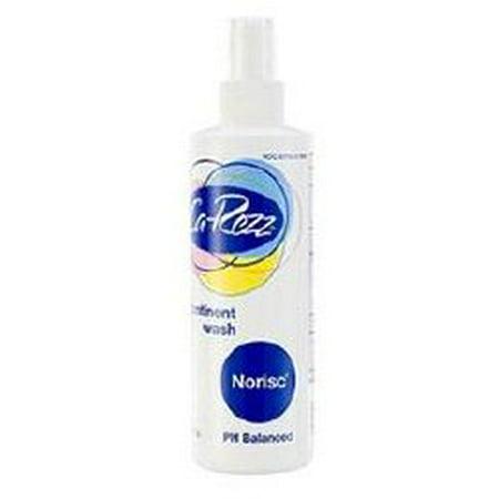 Ca-Rezz NoRisc Rinse-Free Incontinence Cleanser Liquid 8 oz. Pump Bottle Scented, 11308 - Case of 36 Incontinent Cleanser 8 Oz Bottle