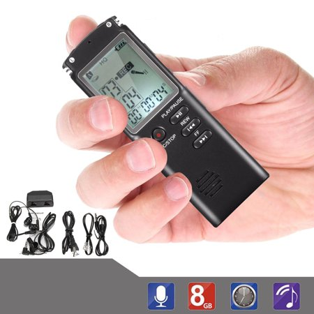 LCD Display Cellphone and Landline Call Recording 580 Hours 8G B Digital Voice Sound Recorder | For Smartphone and Cellphone | Phone Audio Recorders | MP3 Player LCD screen Mobile Call Recorder