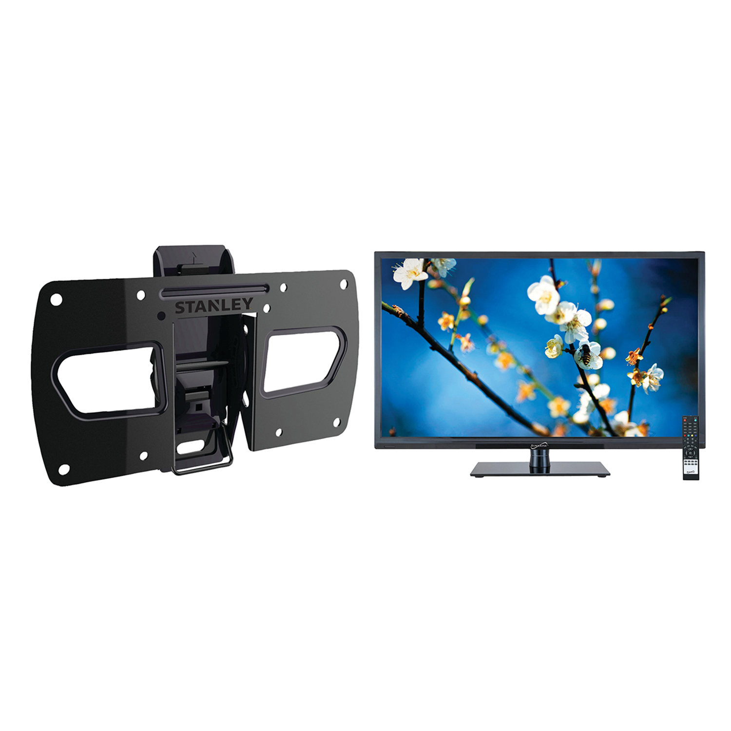 "Supersonic 21.5"" Class Full HD (1080P) LED TV (SC-2211) and Stanley TMR-EC3103T Tilt Wall Mount"