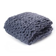 Chunky Knit Chenille Throw Blankets