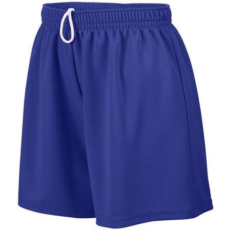 Augusta Sportswear Mesh Shorts - Girls' WICKING MESH SHORT L Purple, QUALITY CONSTRUCTION - Augusta Sportswear Girls' Wicking Shorts is manufactured from high quality fabric..., By Augusta Sportswear