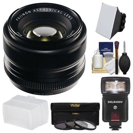 Fujifilm 35mm f/1.4 XF R Lens with Flash + Soft Box + Diffuser + 3 UV/CPL/ND8 Filters + Kit for X-A2, X-E2, X-E2s, X-M1, X-T1, X-T10, X-Pro2 (Best Lens For Fujifilm X T1)