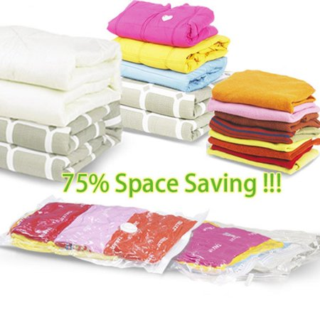 Travel Storage Bags for Clothes  Vacuum Seal Compressed Bags Reusable Space Saver Packing Sacks  Rolling Compression for Luggage