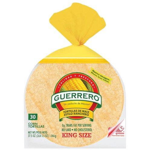 """Guerrero Corn King Size De Maiz Estilo Ranchero 6"""" Tortillas, 30 ct"""