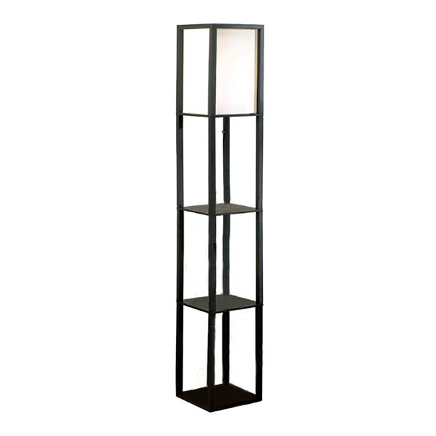 Square Etagere Floor Lamp Storage And
