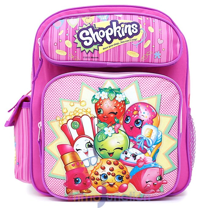 "Small Backpack - Shopkins - Pink 12"" School Bag New New 415098"