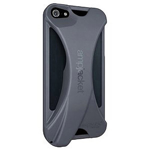 Ampjacket Softshell TPU Sound Amplifier for iPhone 4/4S, Black