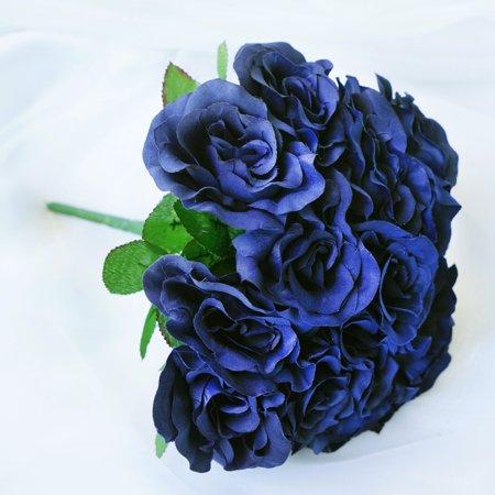 balsacircle 4 velvet artificial roses wedding bouquets bridal flowers. Black Bedroom Furniture Sets. Home Design Ideas
