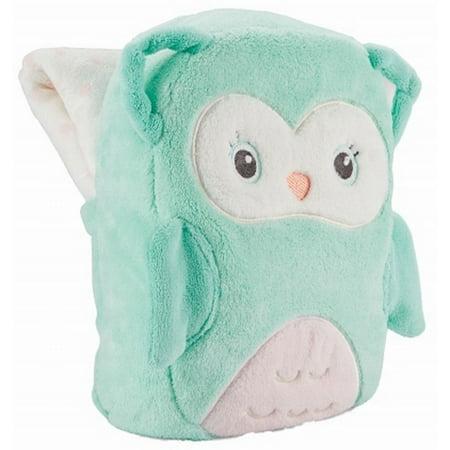 Carter S Soft Fleece Blanket With Adorable Owl Holder