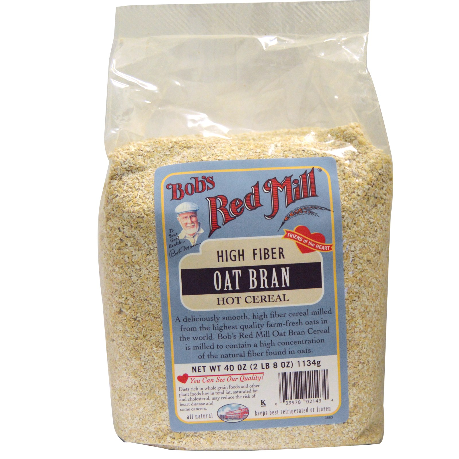 Bob's Red Mill, Oat Bran, Hot Cereal, 40 oz (pack of 4)