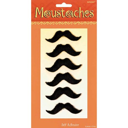 Cinco de Mayo Fiesta Plush Mustaches (6 Count) (Mayan Costume)