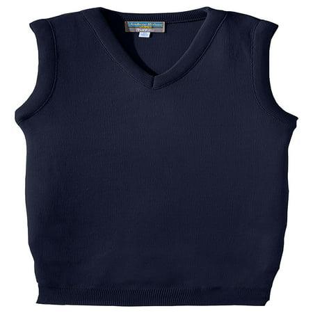Black Sleeveless Sweater Top (Edwards Garment Plus Size Value V Neck Sleeveless Sweater Vest, Style 165 )