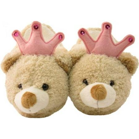 8a23b1d6adf Princess Teddy Bear Kids Plush Animal Slippers - Walmart.com