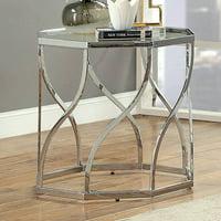 Furniture of America Joel Glass End Table