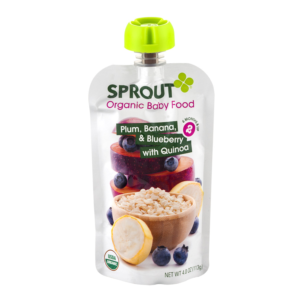 Sprout Organic Baby Food Plum, Banana, & Blueberry With Quinoa 2, 4.0 OZ