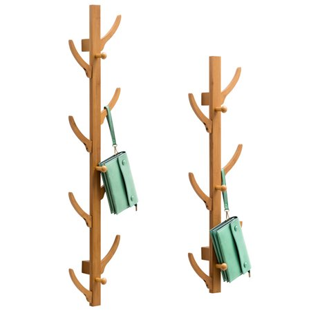Wall Mount Tree Hooks Rack Coat Keys Hat Jackets Hanger Holder Storage Organizer, 2 Sizes ()