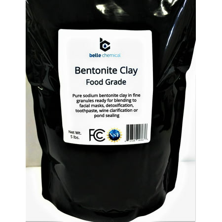 Food Grade Sodium Bentonite Clay (5 Pounds) (Calcium Bentonite Clay Vs Sodium Bentonite Clay)