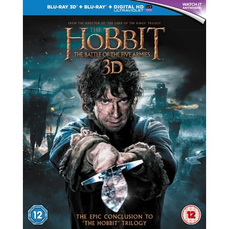 The Hobbit: The Battle of the Five Armies Blu-ray 3D + Blu-ray 2015 Region