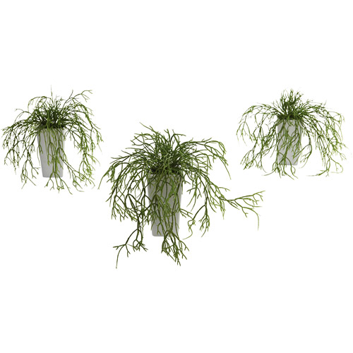Nearly Natural Wild Grass with White Vase, 3pk
