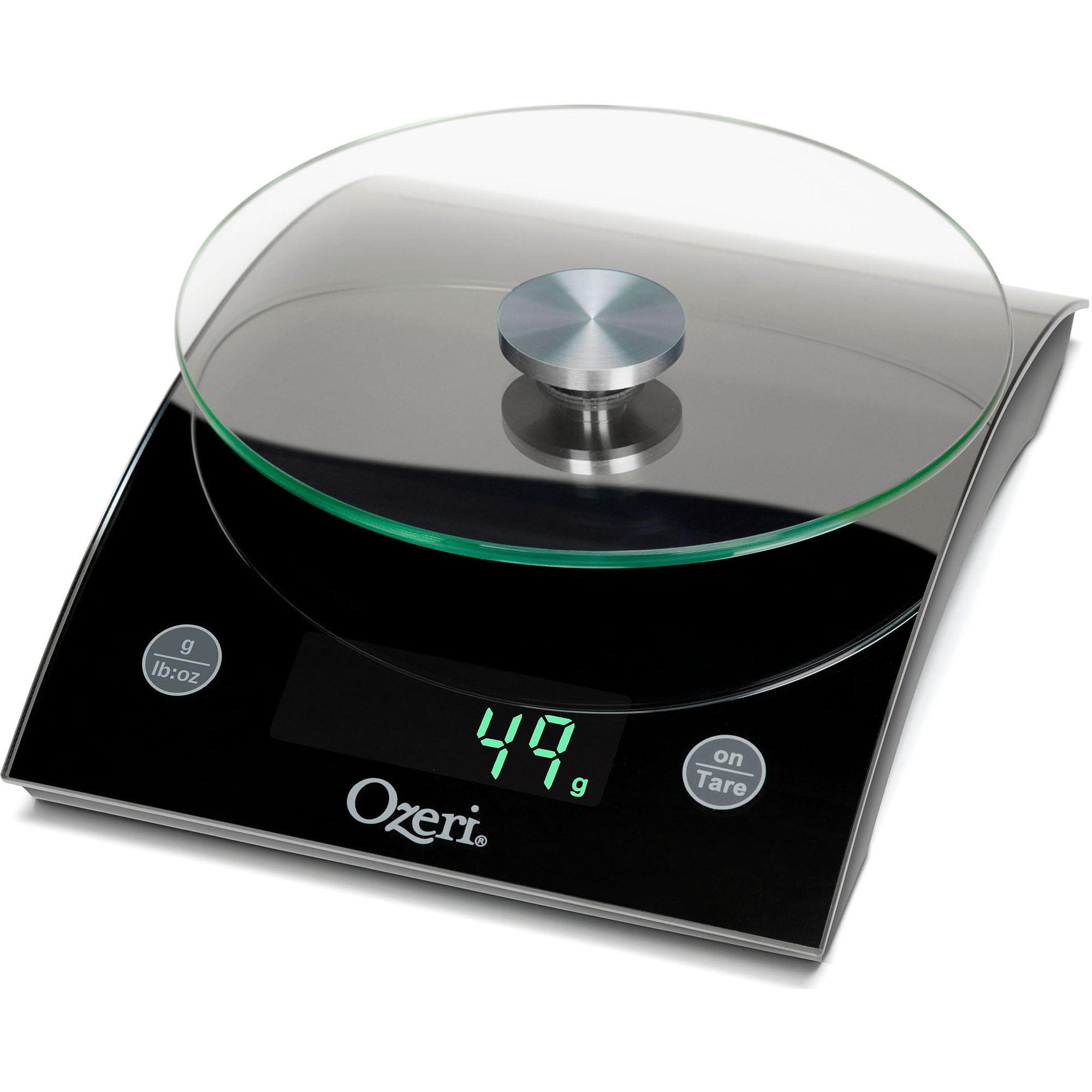Ozeri Epicurean Digital Kitchen Scale, 17 lb Capacity, Elegant Tempered Glass