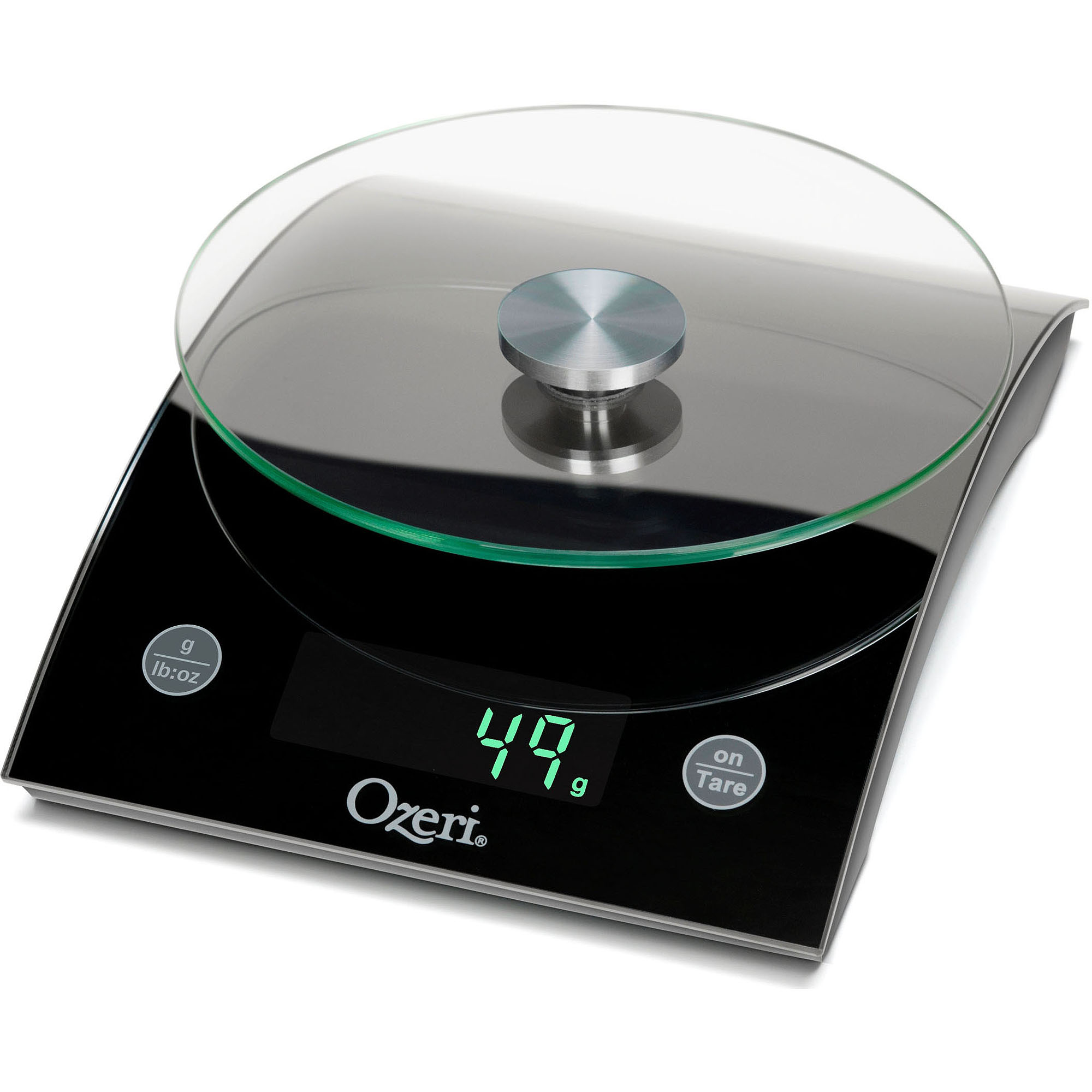 The Epicurean 18 lbs LED Kitchen Scale by Ozeri, with Removable Glass Weighing Platform