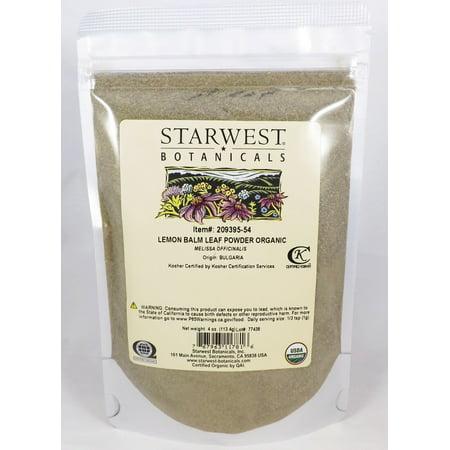 Lemon Leaves - Starwest Botanicals Lemon Balm Leaf Powder Organic 4 oz